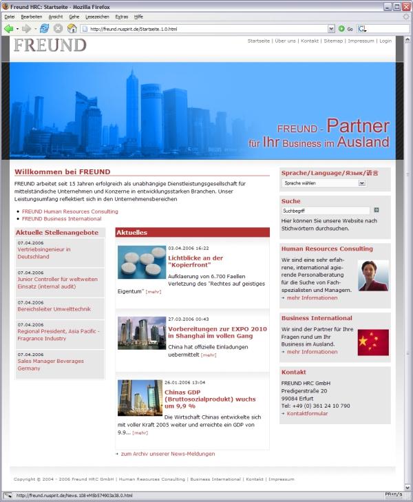 Relaunch von www.freund-hrc.de