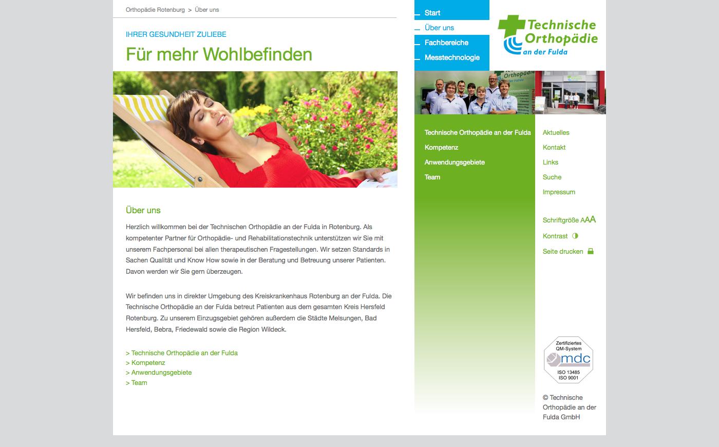 Technische Orthopädie an der Fulda